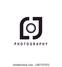 Letter lj or initial lj for photography logo design