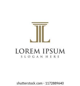 Letter LL logo design