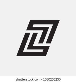 letter LL logo template. vector alphabet