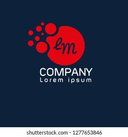 letter lm logo concept. Designed for your web site design, logo, app, UI