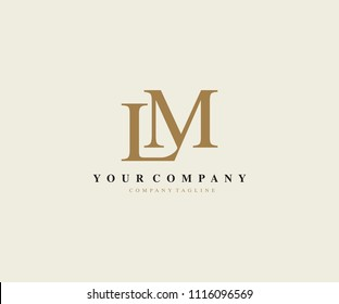 Letter LM Luxury Logo Ideal for Fashion Beauty Brand