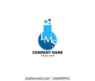 Letter LMS Lab Logo Template Design Vector