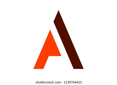 letter A logo abstract concept