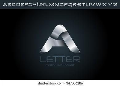 Letter A Logo, alphabet logo design.