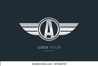 Letter A logo. Alphabet logotype vector design.