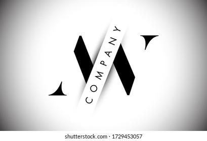 Letter Logo AV A V with Creative Shadow Cut Text Vector Illustration Design.