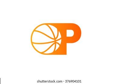 A letter logo, basketball ball logo design.