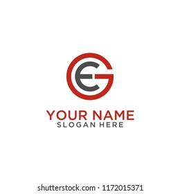 Letter EG logo design