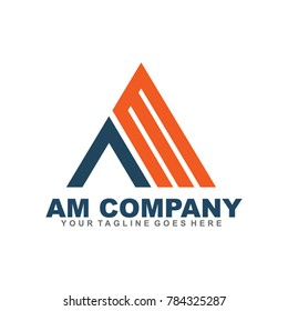 AM letter logo design