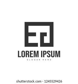 EG Letter logo design. Initial letter logo template design