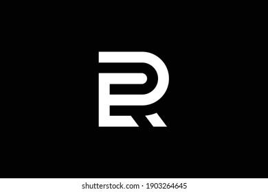 RE letter logo design on luxury background. ER monogram initials letter logo concept. RE icon design. ER elegant and Professional white color letter icon on black background.