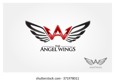 A letter logo design template. Angel wing vector unusual letter. Vector design template elements for your application or company.