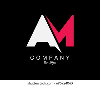 AM Letter Logo Design Template Element