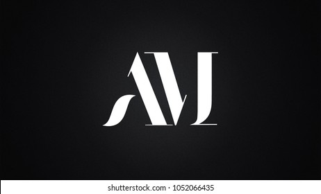 AM Letter Logo Design Template Vector