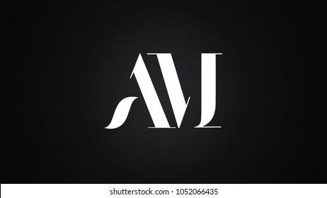 AM Letter Logo Design Template Vector