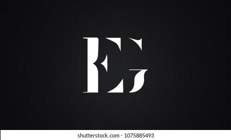 EG Letter Logo Design Template Vector