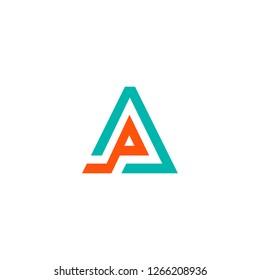 letter A logo design vector graphic template minimalis