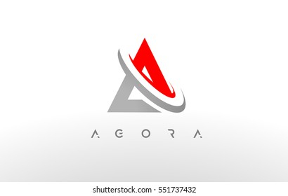 Letter A Logo. A Letter Design Vector with Gray Swash..