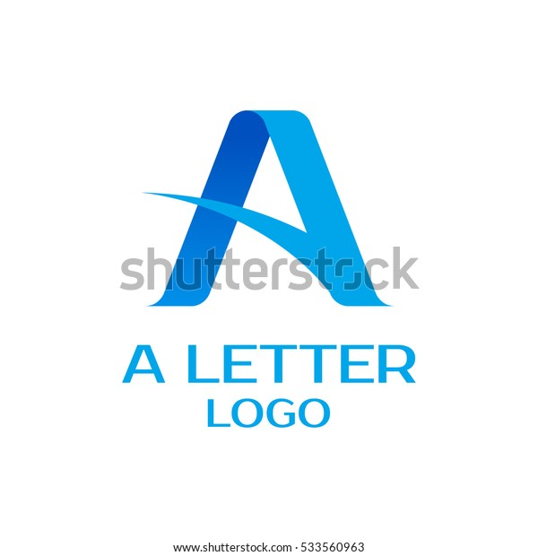 Letter A logo design vector template. Vector logo with the stylized letter A.
