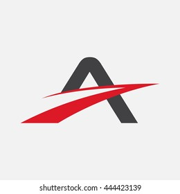 Letter A logo element