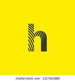 letter logo h lowercase, mutation of lines editable vector