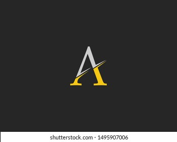 Letter A Logo icon. Creative  Design with dot shape letter A for business, technology, finance, network, start up and more brand.