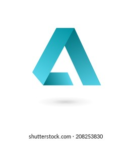 Letter A logo icon design template elements. Vector color sign.