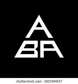 letter logo icon vector template on black background creative letter ABA icon , ABA vector