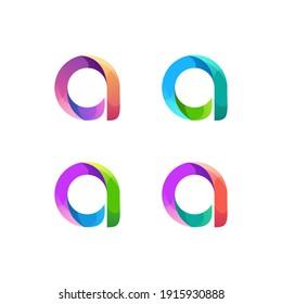 A letter logo illustration Colorful Vector Design