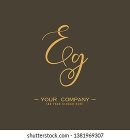 Letter Eg Logo. Initial Letter Design Vector Luxury Colors