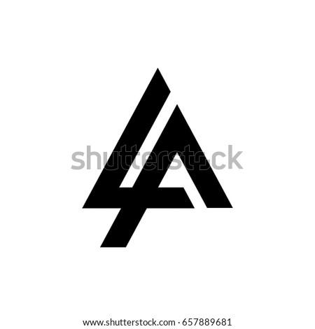letter logo la letter logo stock vector royalty free 657889681