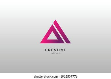 A Letter Logo Monogram Minimalist Design