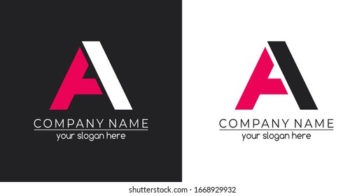 Letter А logo or monogram. For your business. Vector sign.