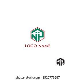 Letter logo NP vector illustration. Design for real estate