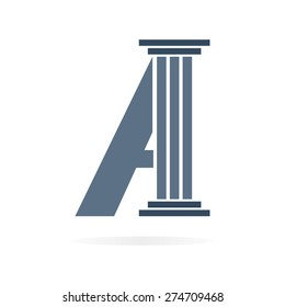 Letter A logo or symbol icon