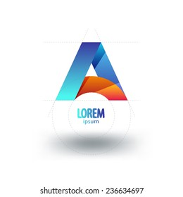 letter A  logo template. Abstract icon.