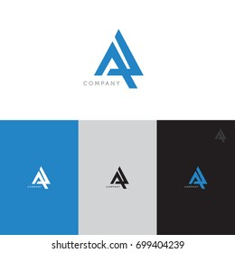Letter A logo template. Abstract icon