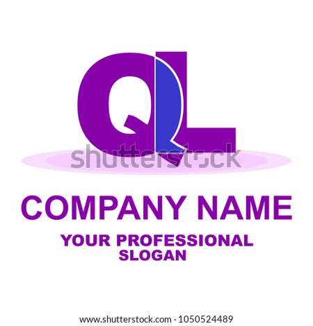 letter logo two letters q l stock vector royalty free 1050524489 rh shutterstock com two letter logo