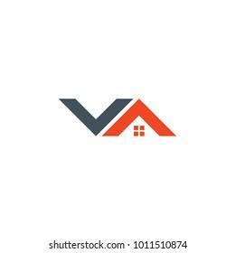 Letter Logo VA for Real Estate