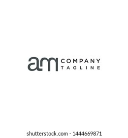 am letter logo vector,monogram alphabet design,simple and modern am text