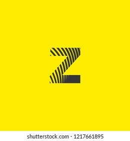 letter logo z lowercase, mutation of lines editable vector