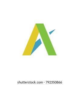 Letter A logotype vector design emblem identity icon business illustration eps 8