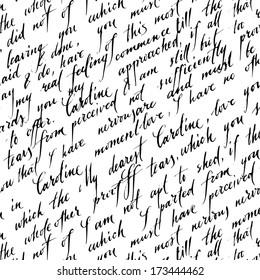 Letter lover. Vector pattern