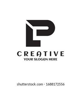 Letter LP logo creative design template
