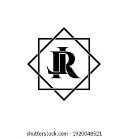 Letter LR luxury logo design vector