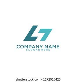 Letter LT logo design