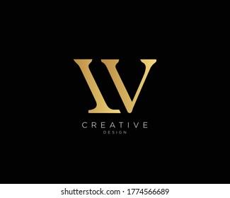 Letter LV LW Logo Design , Creative Minimal LV LW Monogram