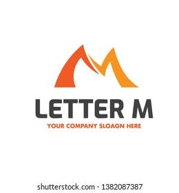 Letter M Business and Technology Logo Design Isolated on White Background