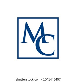 letter m and c vector logo.