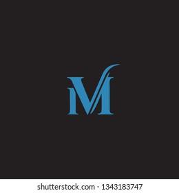 letter M, color icon templates design